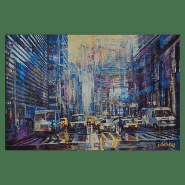 Wet Street 26 x 24 by Jan Delikat