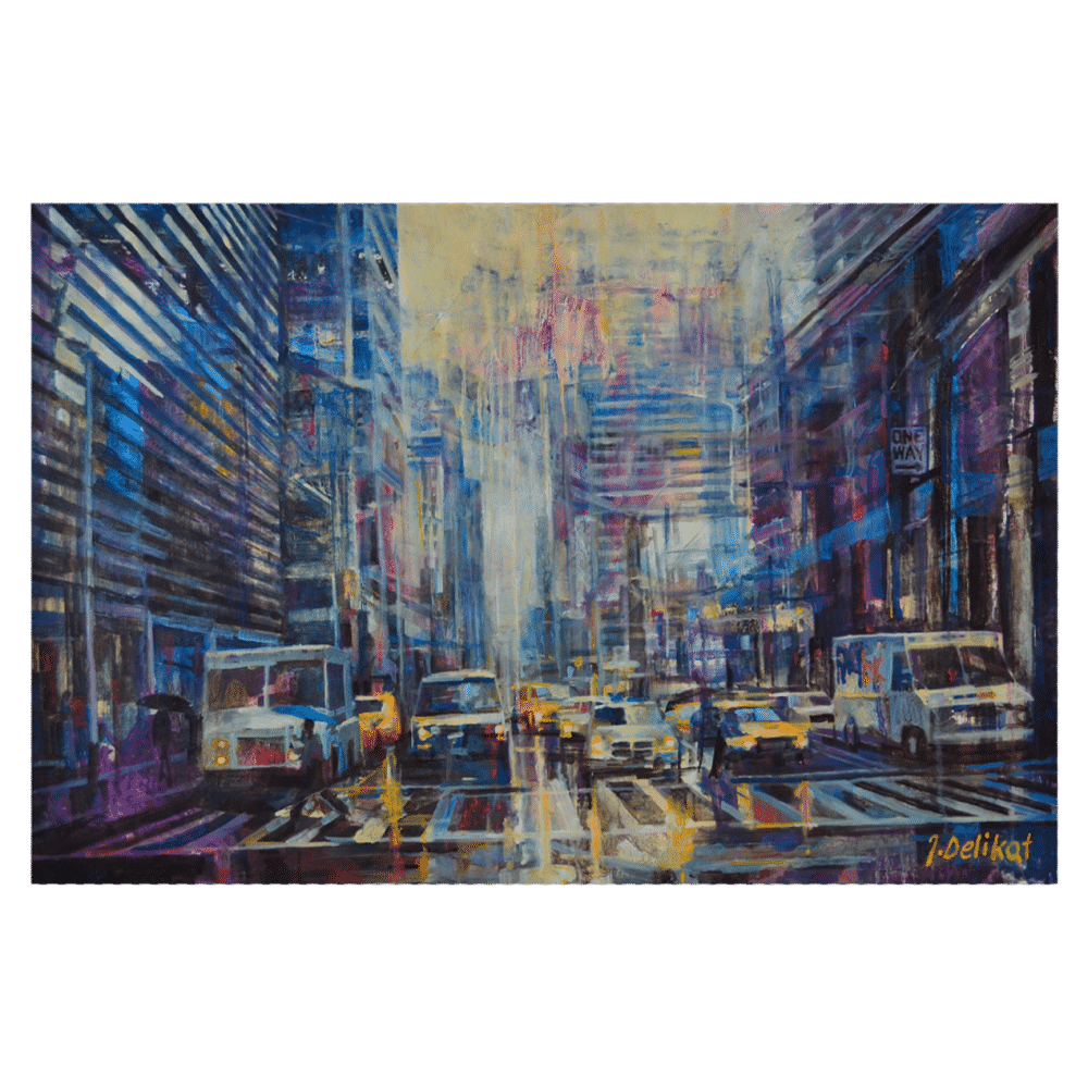 Wet Street 26 x 24 by Jan Delikat