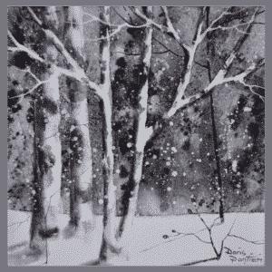 Winter Birch I 10x10 by Doris Pontieri