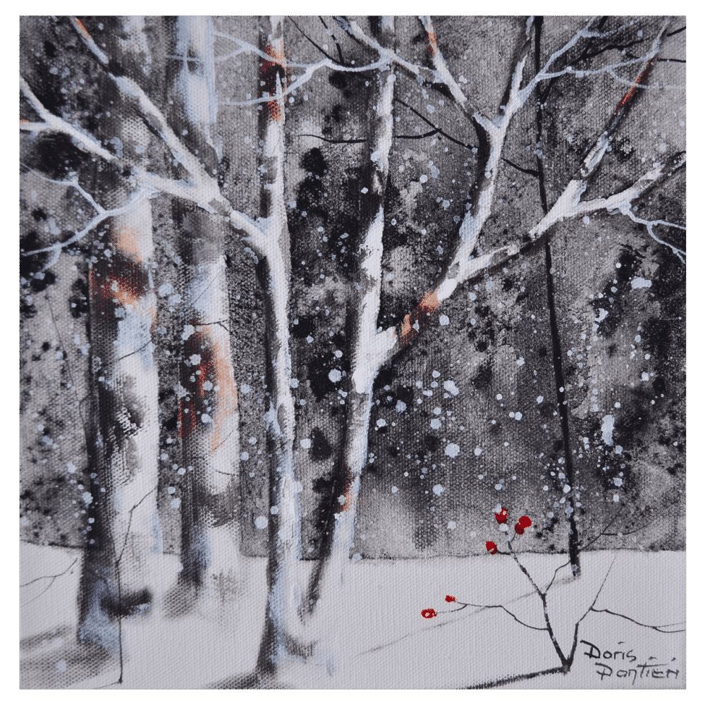 Winter Birch I 10x10 by Doris Pontieri