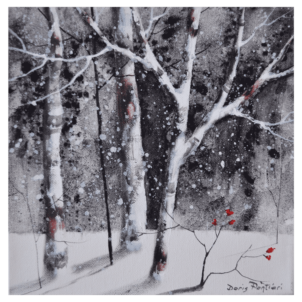 Winter Birch II 10x10 by Doris Pontieri