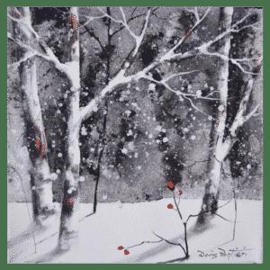 Winter Birch III 10x10 by Doris Pontieri