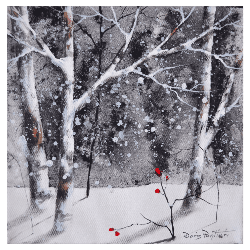 Winter Birch III 10x10 by Doris Pontieri