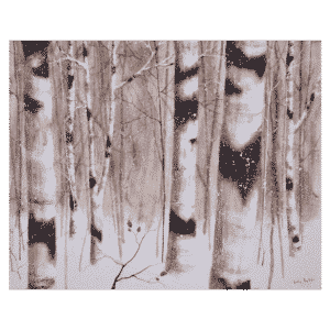 Winter Birches 30x24 by Doris Pontieri