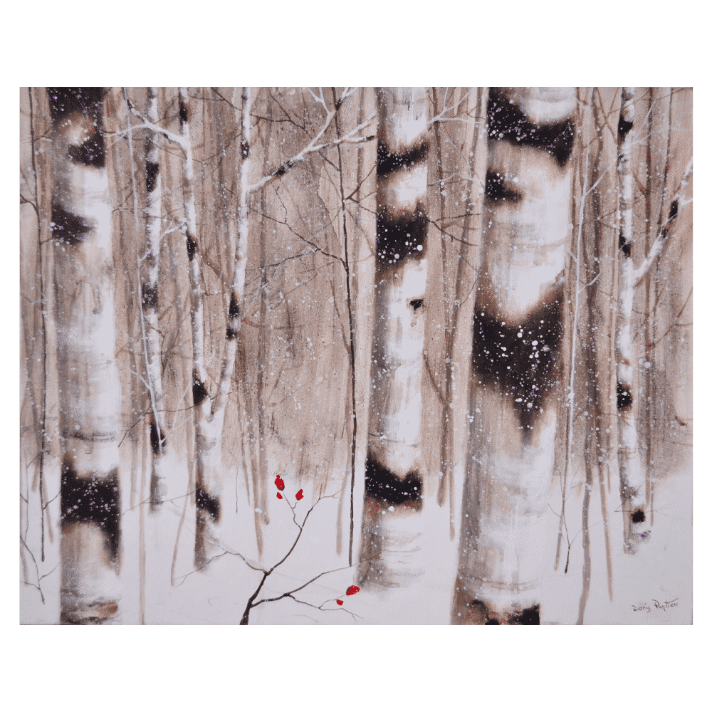 Winter Birches 30x24 by Doris Pontieri