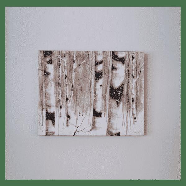 Winter Birches 30 x 24