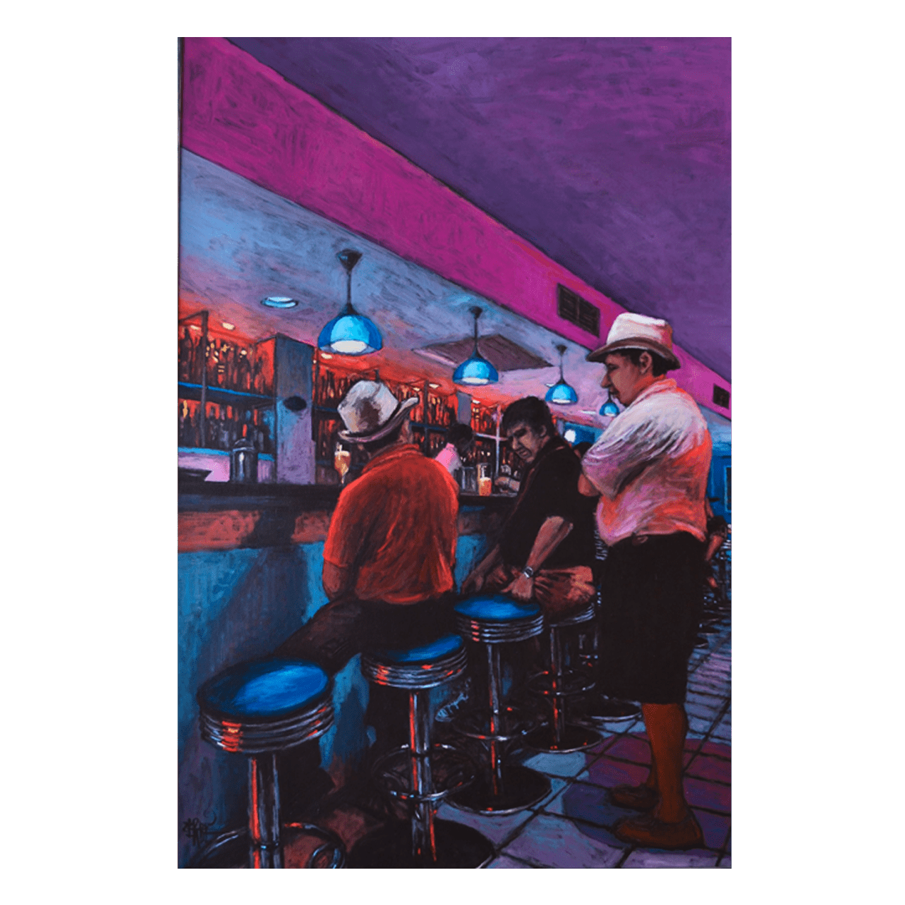 Alexandre Zerbe W 40' x H 60' Acrylic on Canvas