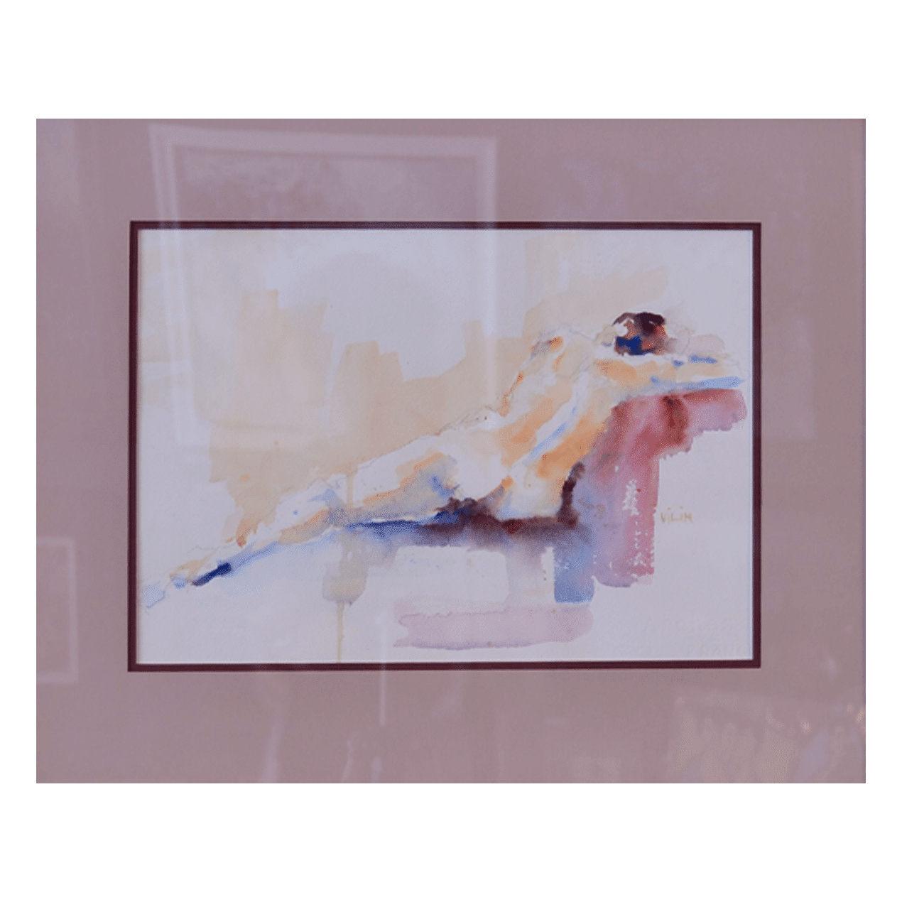 Ron Vilim W 22' x H 18' Watercolour on Paper Framed