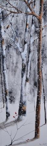 Winter Tall Trees<br>12×36