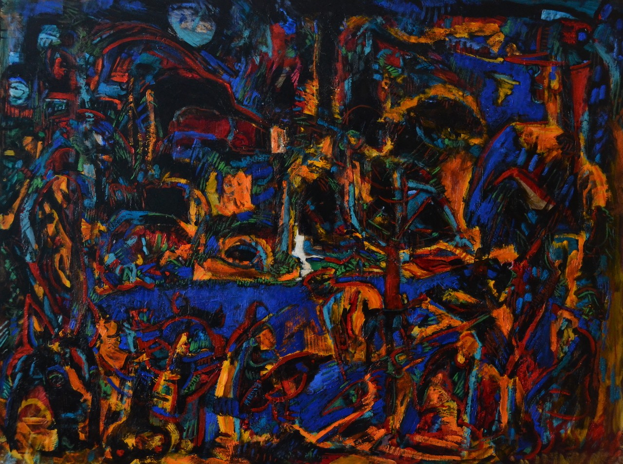 Midnight Bathers<br>48×36
