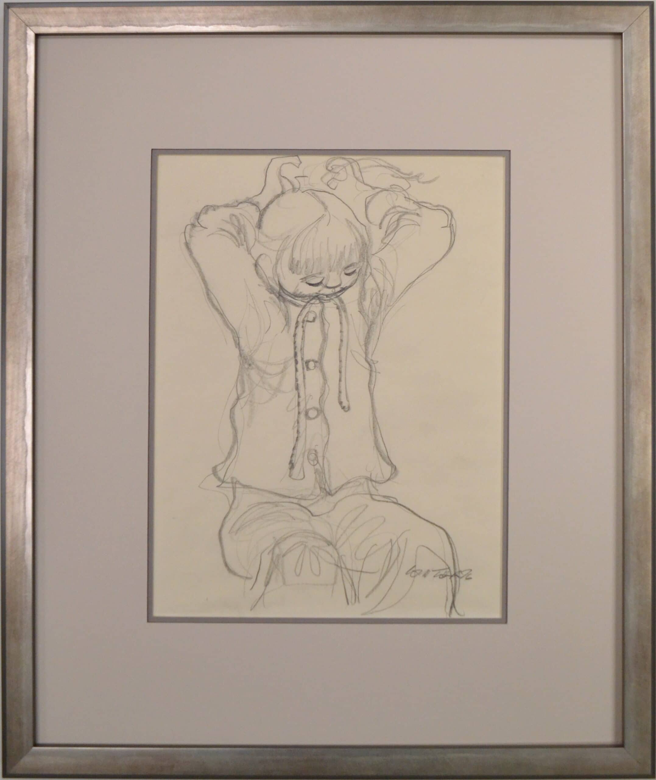 Untitled (Child With Hair Ribbon)<br>15×17 3/4